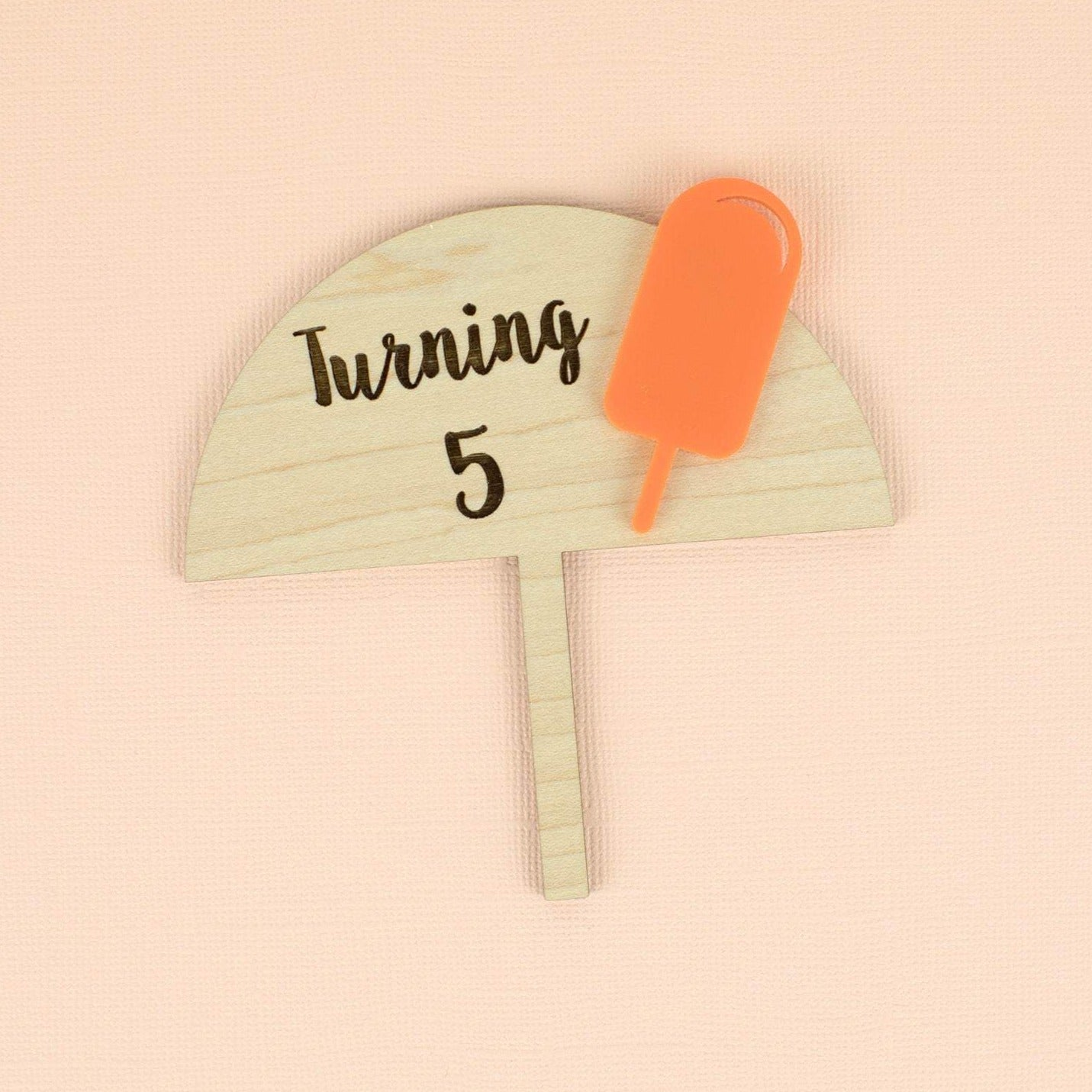 Popsicle Small Cake Topper