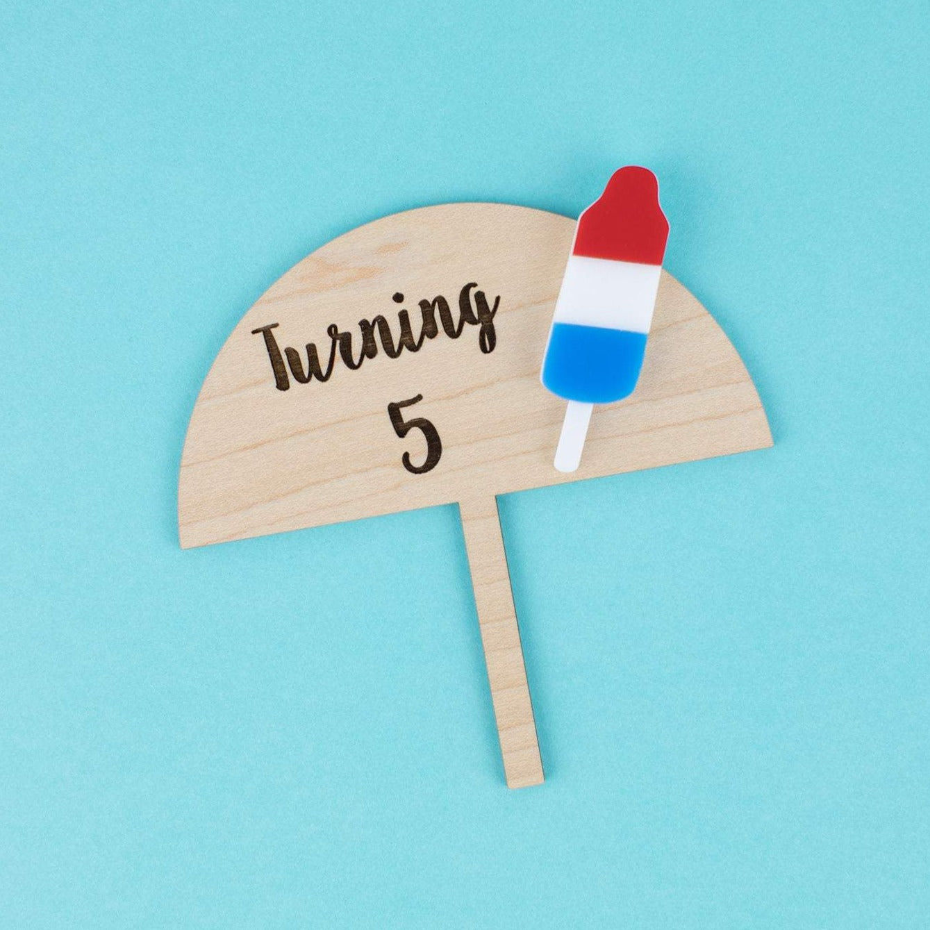 Bomb Pop Small Cake Topper, Custom Cake Topper, Popsicle Party, Bomb Pop Party, Cake Topper, Birthday Cake, Ice Cream Party, Patriotic