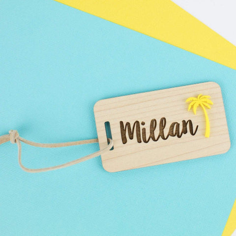 Wood & Acrylic Custom Luggage Tag 2 - Personalized luggage tag - Travel Lovers Tag - Custom Personalized Luggage Tags