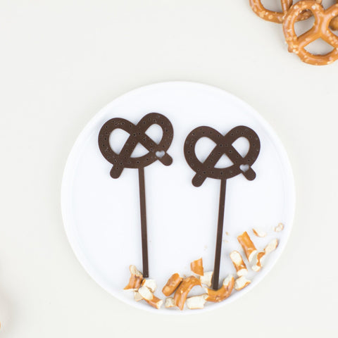 Pretzel Cupcake Toppers, 6 count