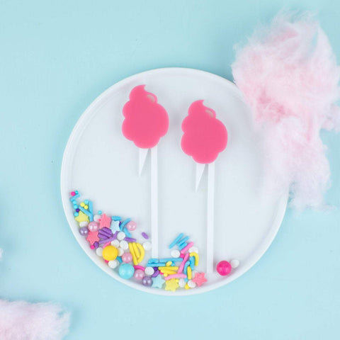Cotton Candy Cupcake Toppers, 6 count