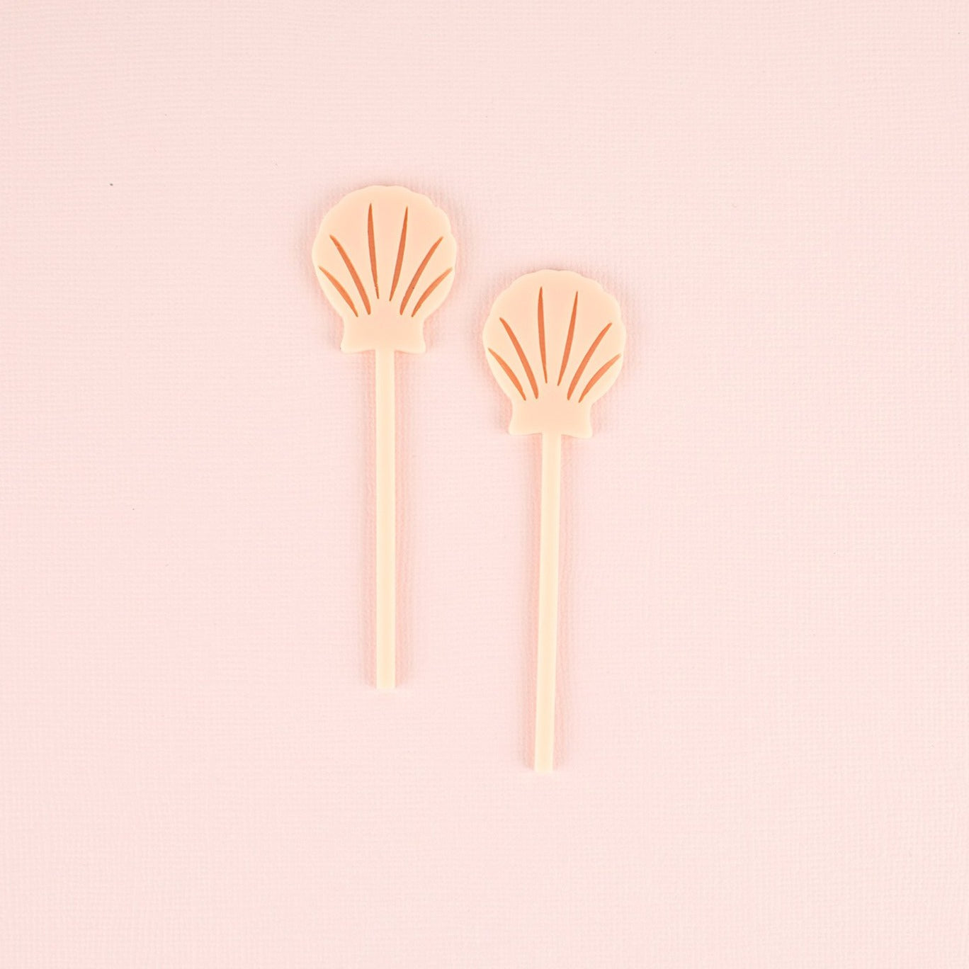 Seashell Cupcake Toppers, 6 count