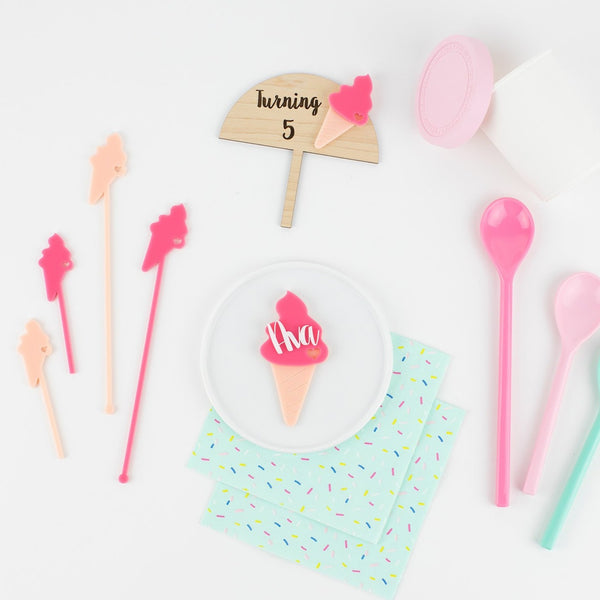 Ice Cream Personalized Place Card