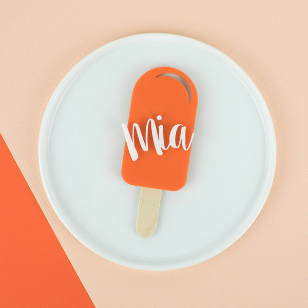Popsicle Personalized Place Card