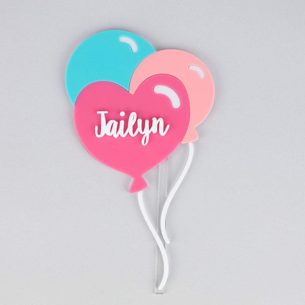 Heart Balloon Bundle Cake Topper