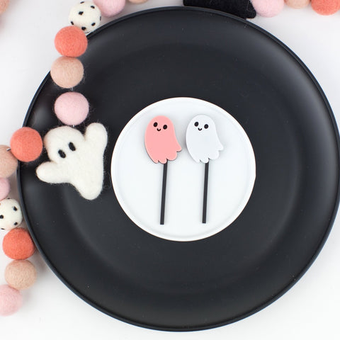 Ghost Dual Layer Cupcake Toppers, 6 count