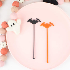 Witches Hat Stir Sticks, Swizzle Sticks, Drink Stirrers Laser Cut, Acrylic, 6 Ct. - Halloween Party - Bat Party - Birthday - Halloween
