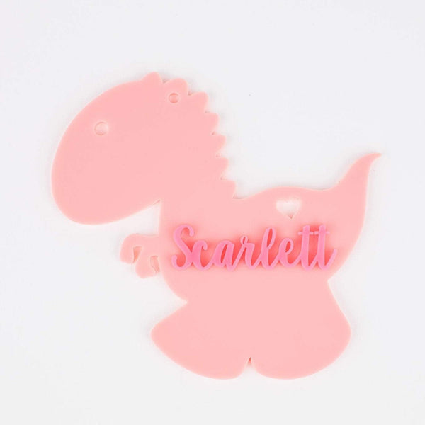 Dino Personalized Acrylic Tags | Hang Tag | Customized Hang Tags | Gift Tags | Bag Tags | Dino Tags | Birthday | Dino
