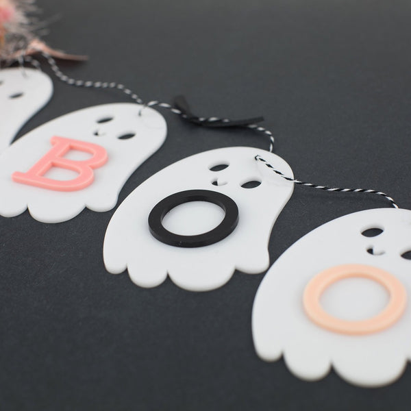 Ghostly Boo Acrylic Garland