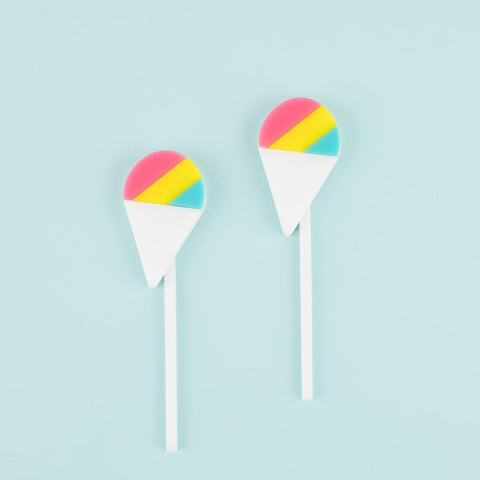 Snow Cone Cupcake Toppers, 6 count