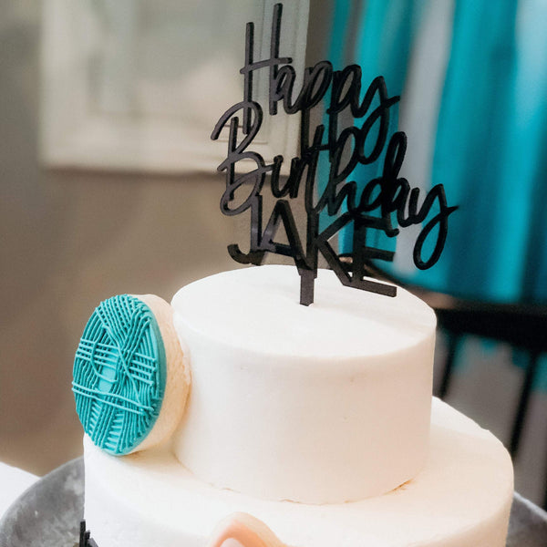 Happy Birthday Custom Cake Topper