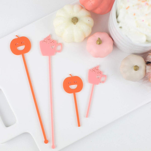 Pumpkin & Latte Cupcake Toppers, 6 count