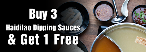 Buy 3 Haidilao Dipping Sauces and Get 1 Free from SeeWoo Express