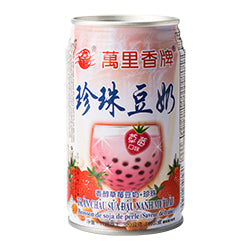 Mong Lee Shang - Pearl Soy Bean Drink with Tapioca Balls (Strawberry Flavour)
