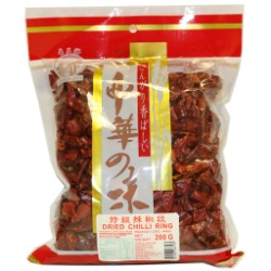 20821 壽星牌特級辣椒段LONGEVITY DRIED CHILLI RING (= 44806)