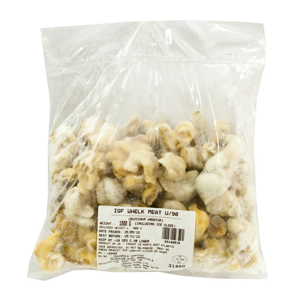 31489 IQF COOKED WHELK MEATS (20% GLAZE)