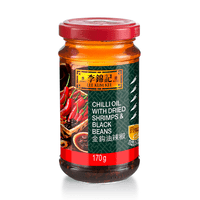 49057 Lee Kum Kee (LKK) Chilli Oil With Dried Shrimps & Black Beans 170g