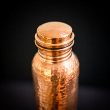 Load image into Gallery viewer, Hammered Copper Water Bottle