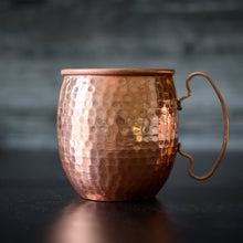 Load image into Gallery viewer, Hammered Copper Moscow Mule Mug