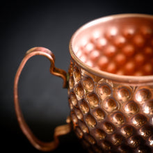 Load image into Gallery viewer, Hammered Copper Honeycomb Mug