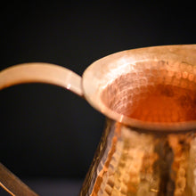 Load image into Gallery viewer, Large Hammered Copper Pitcher