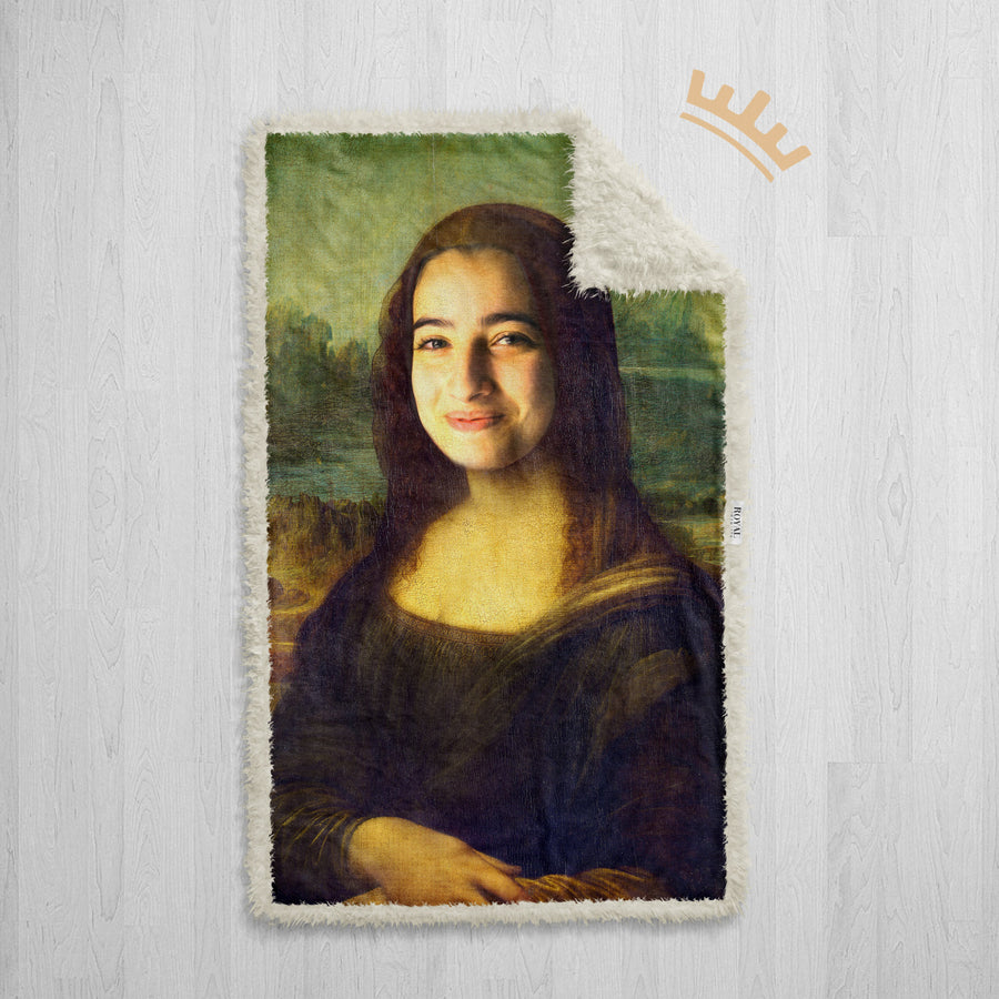 The Mona Lisa - Royal Sherpa Blanket™