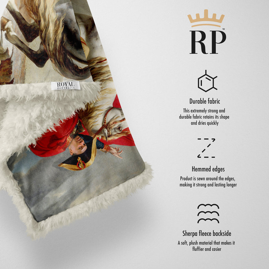The Napoleon Bonaparte - Royal Sherpa Blanket™