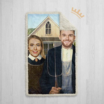 The American Gothic - Royal Sherpa Blanket™