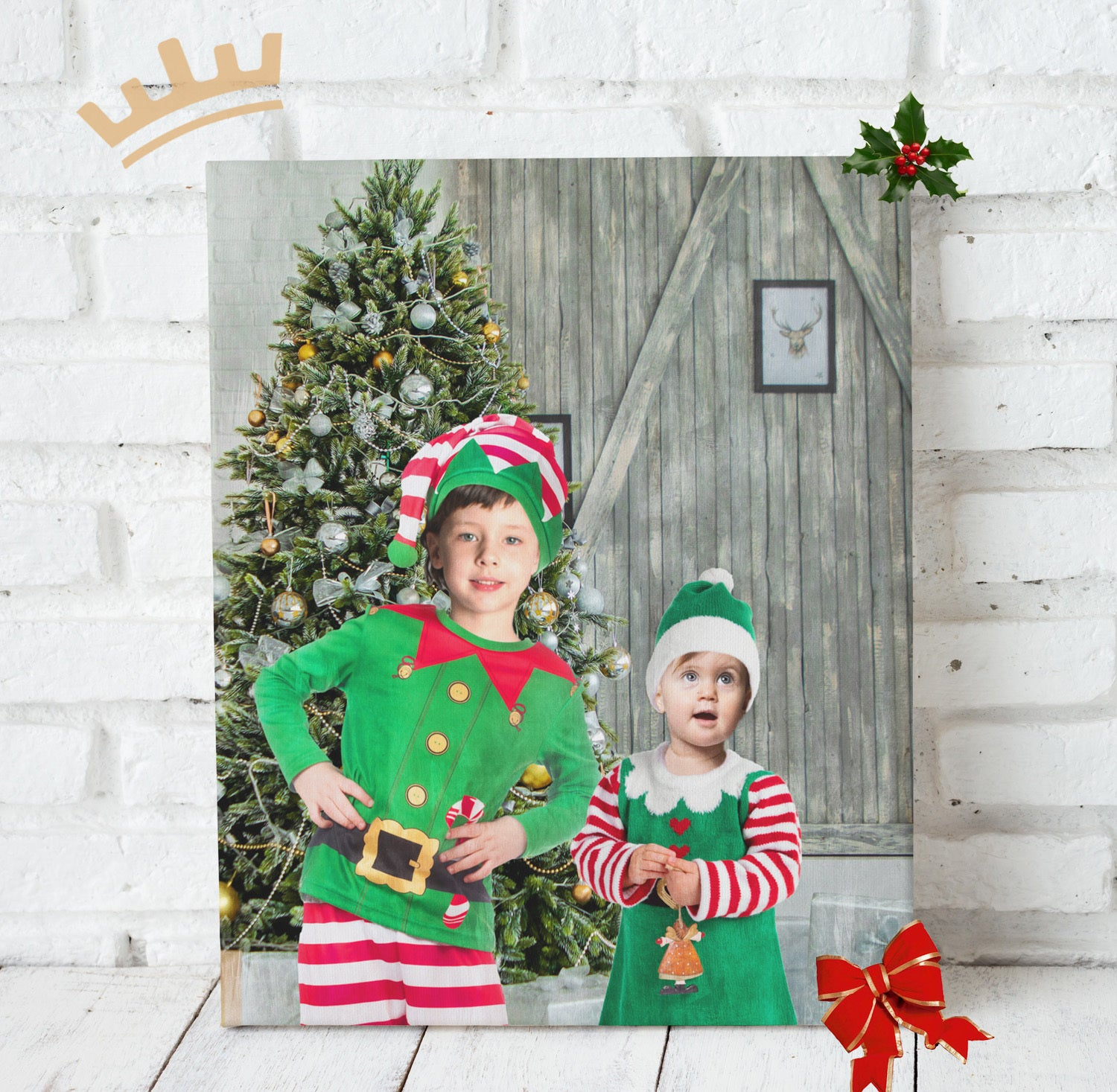 The Christmas Elves - Custom Portrait