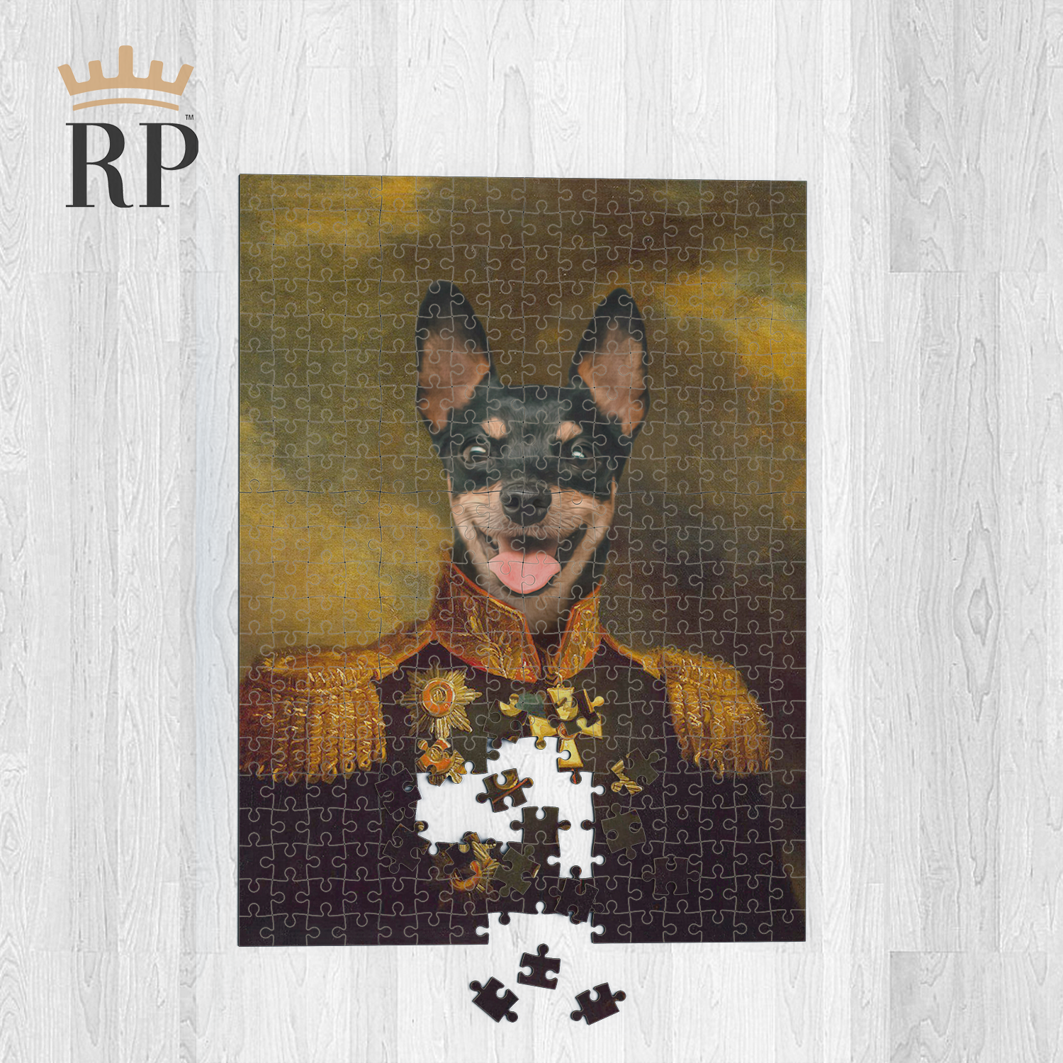 THE OFFICER (PET CANVAS) - CUSTOM ROYAL PUZZLE