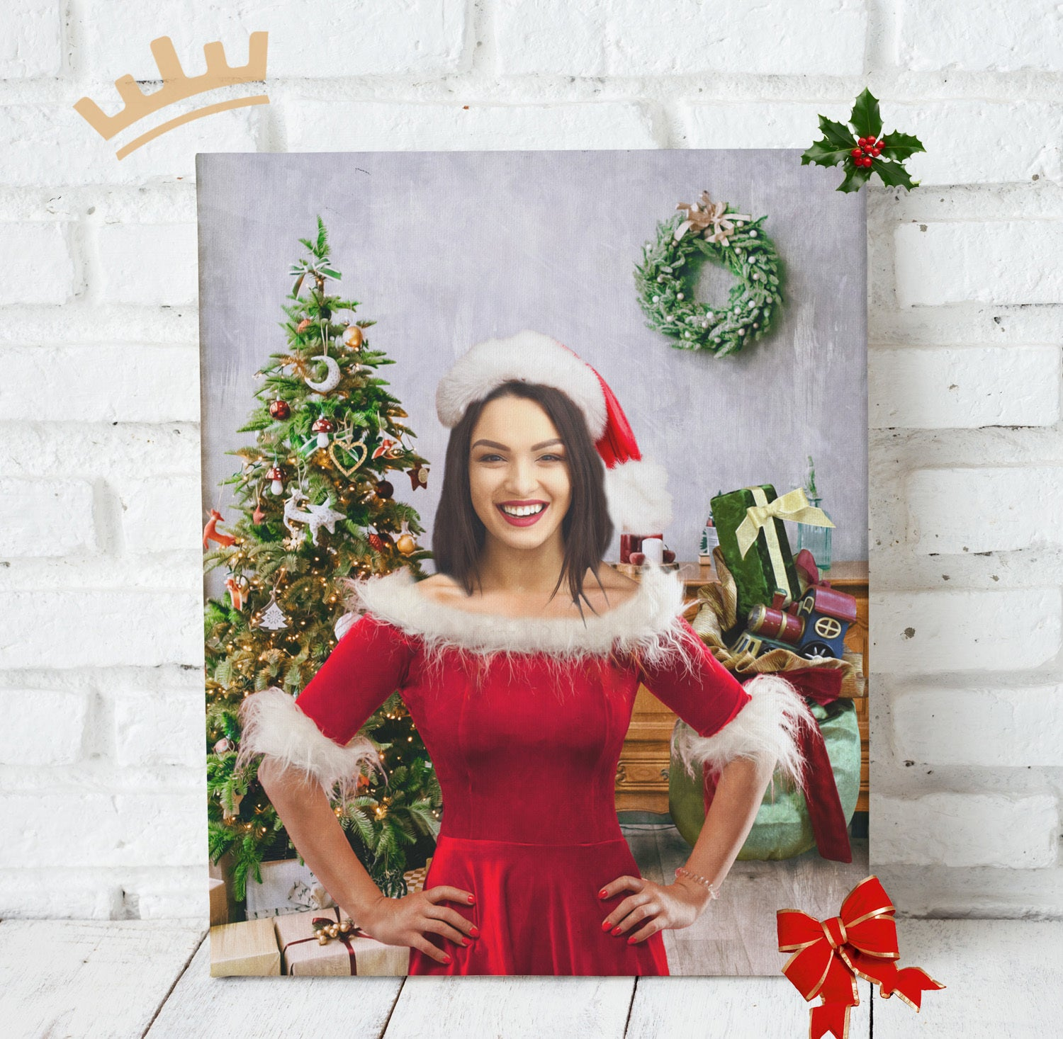 Lady Santa - Custom Portrait