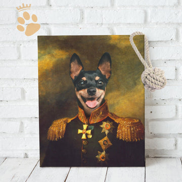 The Officer - Custom Pet Canvas
