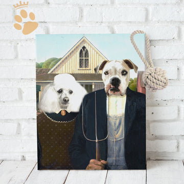 American Gothic - Custom Pet Canvas