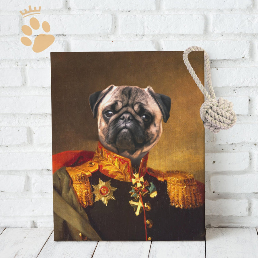 The Lieutenant - Custom Pet Canvas