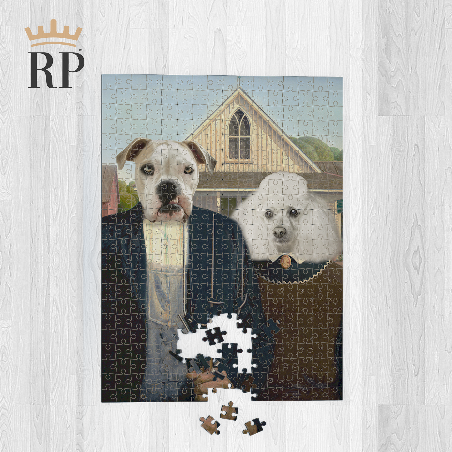AMERICAN GOTHIC (PET CANVAS) - CUSTOM ROYAL PUZZLE
