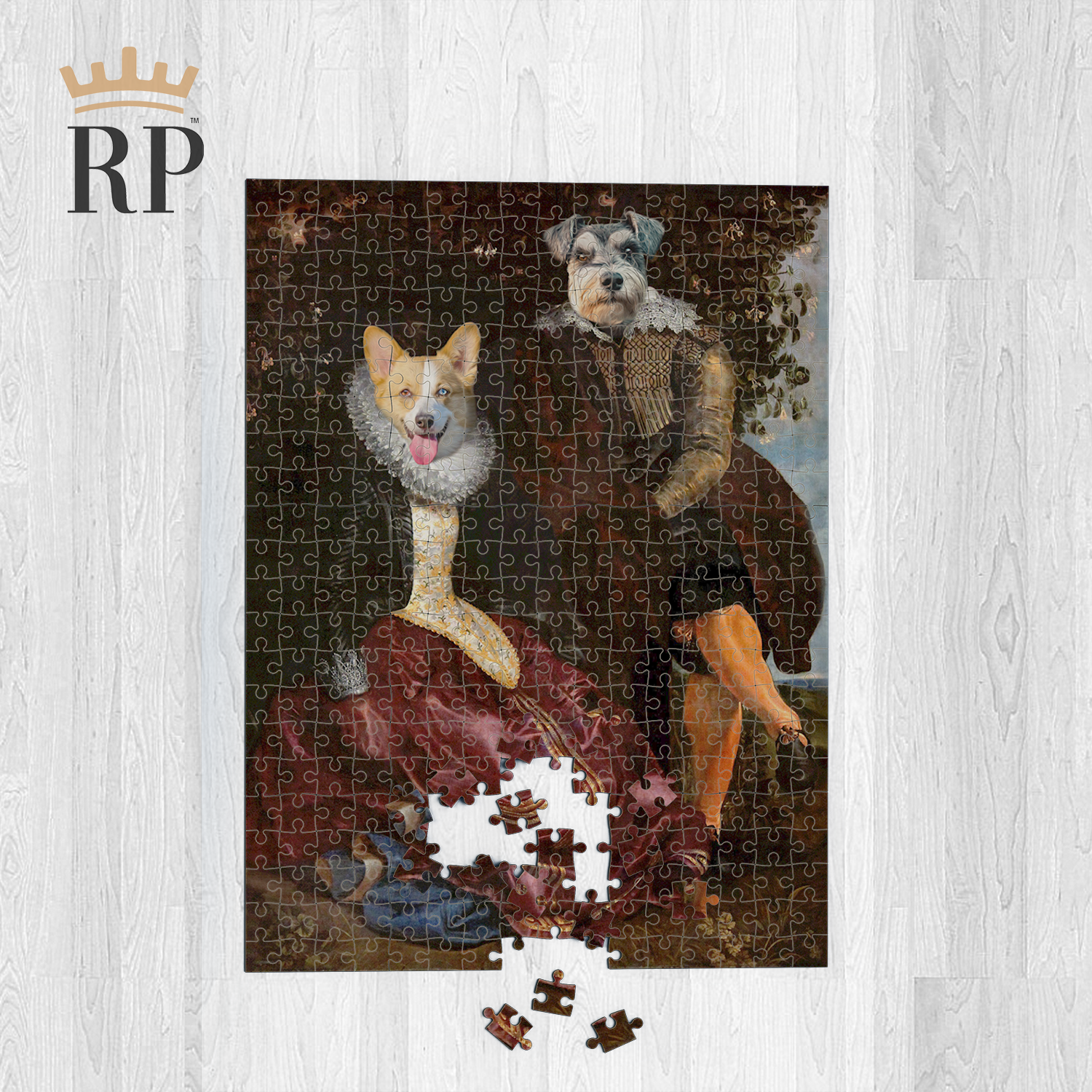 THE LORD & LADY (PET CANVAS) - CUSTOM ROYAL PUZZLE