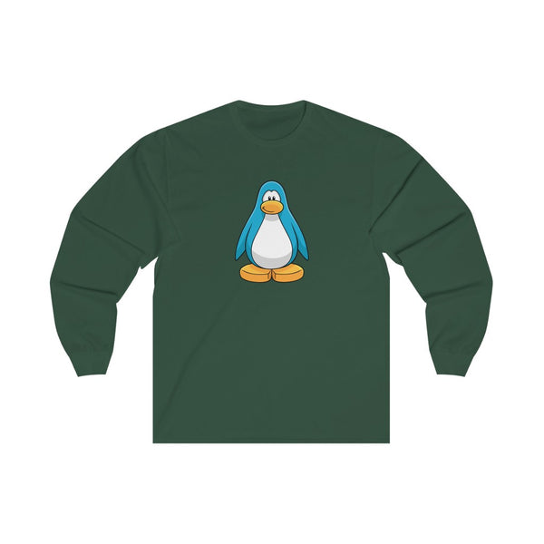 Club Penguin Long Sleeve T Shirt (Blue Penguin)