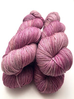 "Hand Dyed Yarn ""Moonlit Amethyst"" Purple Grey Beige Merino Nylon DK Weight Superwash 248yds 100g"