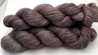 "Hand Dyed Yarn ""Charred"" Grey Brown Black Bluefaced Leicester BFL Silk Fingering Superwash 425yds 115g"