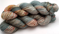 "Hand Dyed Yarn ""Pheasant Plucker"" Green Grey Brown Gold Spruce Avocado Copper Scarlet Speckled SW Merino DK 231yds 100g"