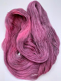 "Hand Dyed Yarn ""20 Minute Workout"" Pink Magenta Lavender Violet Grey Black Polwarth Fingering Superwash 438yds 100g"