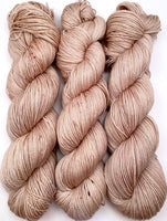 "Hand Dyed Yarn ""Sabelle"" Brown Tan Taupe Sable Beige Speckled Merino Fingering Superwash 438yds 100g"