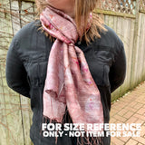 "Hand Dyed Silk Scarf ""Random Silk Scarf 1"" Rose Pink Brown Caramel Tan Copper Gold Mulberry Silk Scarf 22.5"" x 71"" 57cm x 180cm"