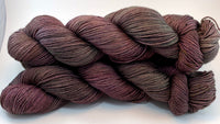 "Hand Dyed Yarn ""Grace, Too"" Purple Plum Scarlet Brown Green Maroon Speckled Merino Fine Fingering Superwash 438yds 100g"