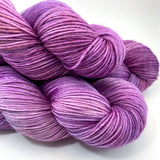 "Hand Dyed Yarn ""Raspberry Beret"" Purple Plum Violet Fuchsia Vermilion Raspberry Rust Grey Merino Alpaca Nylon Fingering Superwash 438yds 100g"