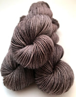 "Hand Dyed Yarn ""Charred"" Grey Brown Gray Charcoal Smoky Merino DK Superwash 231yds 100g"