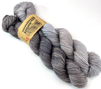 "LIMITED Hand Dyed Yarn ""Back Deck"" + ""Charred"" Grey Brown Beige Greige Taupe Merino Nylon Fine Fingering Superwash 463yds 100g LISTING is for 2 half-hanks"
