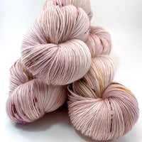 "Hand Dyed Yarn ""Sophrosyne"" Pink Purple Gold Blush Rose Copper Mauve Brown Speckled Merino Lace Singles 825 yds 115g"