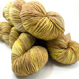 "Hand Dyed Yarn ""Chartrooze"" Green Yellow Chartreuse Lime Olive Brown Chestnut Merino Nylon Fine Fingering Sock Superwash 463yds 100g"