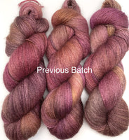 "Hand Dyed Yarn ""Plush"" Purple Plum Brown Gold Black Grey Puce Bluefaced Leicester Lace Superwash 875yds 100g"